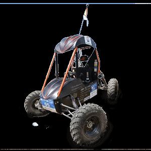 fotografia do carro construido pelos integrantes do projeto fei baja