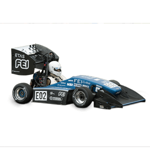 Fotografia lateral do carro do fórmula fei combustão
