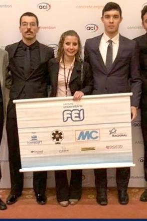 Alunos da FEI conquistam bicampeonato mundial em competição sobre tecnologia do concreto