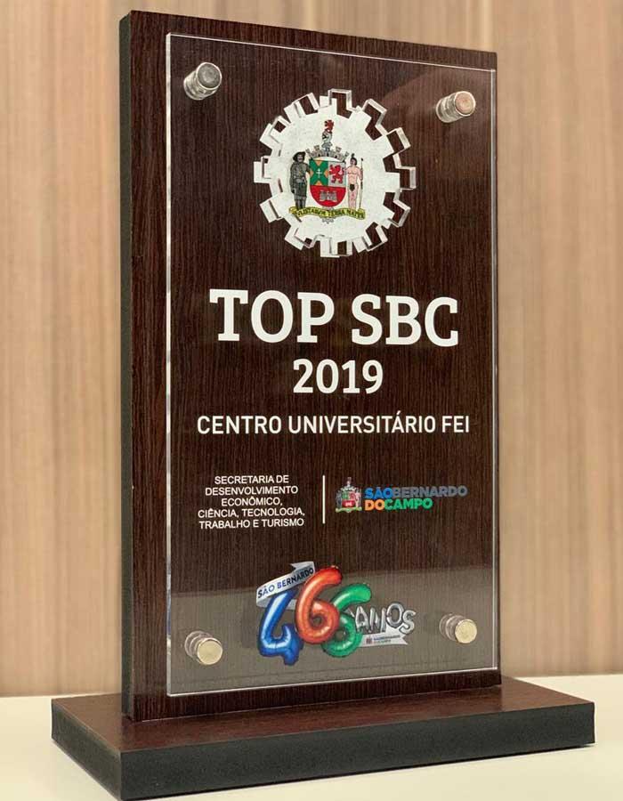 FEI é homenageada com troféu Top SBC em sessão solene de aniversário da cidade