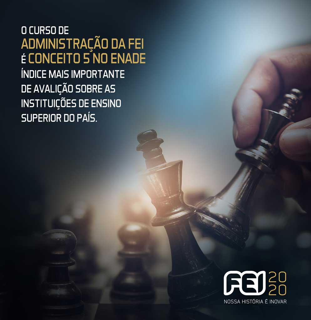 Curso de Administração da FEI obtém nota máxima no ENADE