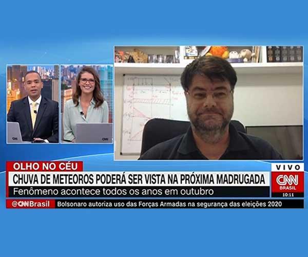 Convidado pela CNN Brasil, professor da FEI fala sobre a chuva de meteoros Orionids