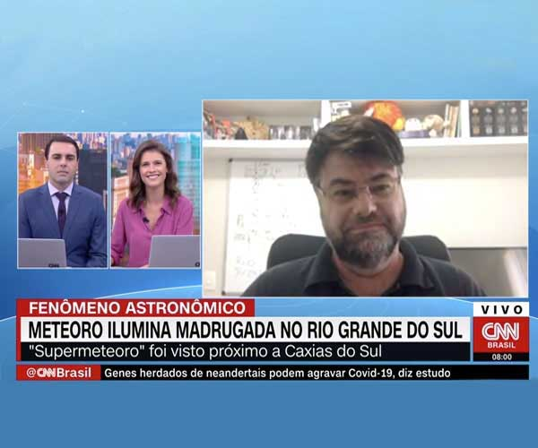 Na CNN Brasil, professor da FEI comenta sobre a queda de meteoro no RS